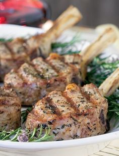 Scrumpdillyicious: Grilled Veal Chops with Lemon & Rosemary