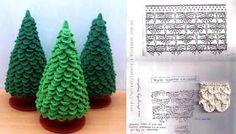 Arbolitos navideños tejidos al crochet patrones