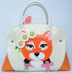 Handbag-borsa-Tua-BRACCIALINI-gatto-cartolina-eco-pelle-bicolore Cute Bags, Lady Dior, Lunch Box, Ebay, Wallets, Bite Size, Bicolor Cat, Bags, Dog Things