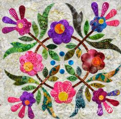 Quilting Lodge Blog: Spring Bouquet Quilt Finished