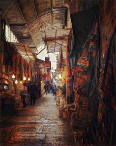Shops in the Old City of Jerusalem, Israel...