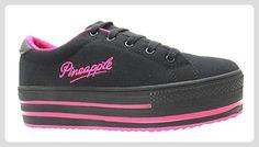 Pineapple  Gabriella, Damen Sneaker Mehrfarbig Schwarz/Pink - Sneakers für frauen (*Partner-Link)