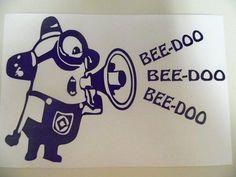 Minion Despicable Me Beedoo Funny Car Truck Window Vinyl Decal Sticker | eBay