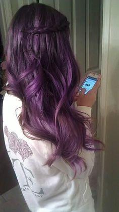Shiny Imperial Purple Hair