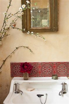found tiles and reclaimed sink and taps   Flickr - Photo Sharing!
