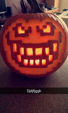 Undertale - Flowey Pumpkin (This Halloween, its kill or be killed) Skull Pumpkin, Pumpkin Art, Cute Pumpkin, Pumpkin Template, Pumpkin Carving Templates, Butterscotch Cinnamon Pie, Undertale Hopes And Dreams, Undertale Costumes, Flowey Undertale