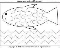 curved and zig zag line tracing 1 worksheet free printable worksheets worksheetfun preschool - Preschool Tracing Pages
