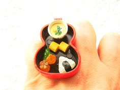 Japanese Food Ring Miniature Food Jewelry Traditional Japanese. $15.00, via Etsy.