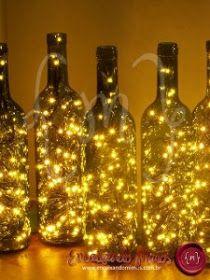 Doidinhas por Makes: RECICLAR é preciso e faz bem - 6 Decoração de Natal com garrafas e pisca pisca