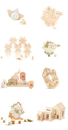Open-ended wooden toys for creative children