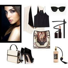 """Black and powder"" by underwonder on Polyvore"