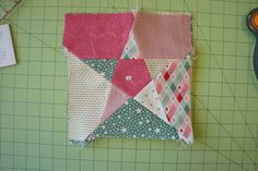Tutorial — 5 Point Star Quilt Block.  I made one of these in red, white and blue while in Doha.  Now I know how to quilt it.  I like the Christmas colors too.
