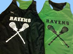 Ravens Pinnies - Racerback Reversible Jerseys - www.lacrossepinnies.com