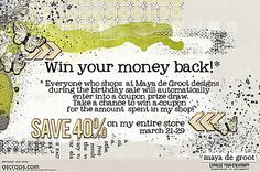 Maya de Groot big sale and chance to win.