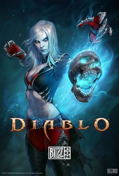 Diablo Necromancer Poster The necrotic Priests of Rathma are a misunderstood order, feared by many for their ability to interact with the dead. Show your support for these heroes and the world of Diablo with this official BlizzCon poster! Fantasy Girl, Dark Fantasy, Fantasy Characters, Female Characters, Blizzard Diablo, Diablo Game, Dreamland, Character Art, Character Design