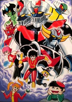 Mazinger Z, Great Mazinger, Grendizer, Getter Robo, Cutie Honey, Devil Man by Go Nagai