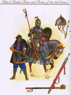 Cavalerie, 12e siècle.