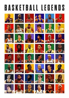 Basketball Legends Poster – All Times - basketballfunny Michael Jordan Basketball, Basketball Memes, Basketball Art, Basketball Legends, College Basketball, Basketball Players, Basketball History, Fifa Teams, Best Nba Players