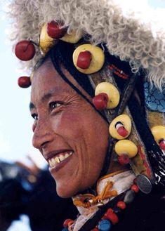 Khampa woman on pilgrimage to Lhasa
