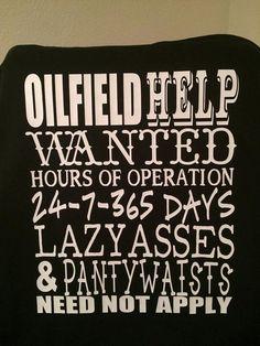 personalized oilfield help wanted shirt by HandmadeWithLovebyAC