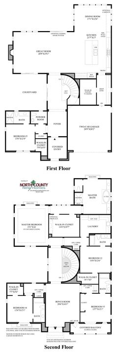 The estates at del sur floor plans san diego new homes new home new homes in carlsbad at the terraces in robertson ranch 5 new home floor plans malvernweather Choice Image