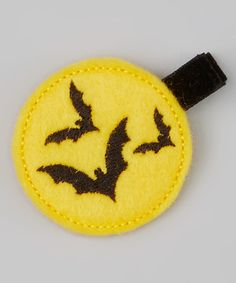 Take a look at this Yellow Bats Felt Clip by Bubbly Bows on #zulily today!