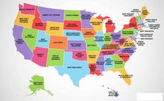 Map of USA with what every State is Best