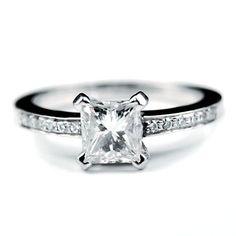 Asscher (Square) cut diamond engagement ring