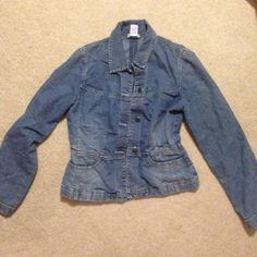 Ann Taylor LOFT Jean jacket Super cute stretch Jean material! Dress it up with a bright scarf and dark/light colored pants/skirt. Ann Taylor Tops. Sign up on POSHMARK with the code PYJYI to get $10 off your first order!!! I promise it's easy and you can save up to 70% by shopping on this site.