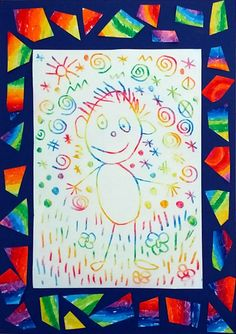 Rainbow Man – The Tower of My Ideas – wswoimrytmie.pl Bonhomme arc-en-ciel – Le tour de mes idées The drawing of the man evolves throughout the kindergarten, the tadpole man in PS until the man with many elements … Tag Art, Painting For Kids, Art For Kids, Kratz Kunst, Kids Art Galleries, Scratch Art, Painting Activities, Ecole Art, Kindergarten Art