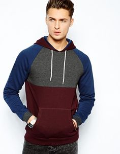 ASOS Hoodie With Cut And Sew Panels