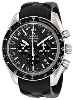 Omega Men's 321.92.44.52.01.001 Speedmaster Black Carbon Fiber Dial Watch