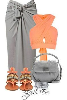 Love the Outfit   the color combination, although I would change the color of the purse - Perfect for a pool party