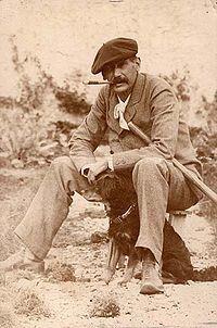 Benito Perez Galdos en 1890 en la finca fliar Los Lirios
