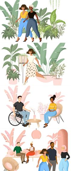 An illustration library of people and objects Flat Design Illustration, Woman Illustration, Character Illustration, Digital Illustration, Graphic Illustration, Coffee Illustration, Funny Illustration, Ex Machina, Free Illustrations
