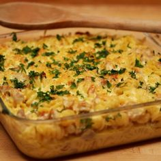 Serve up this pasta bake that packs a punch with flavor. Not only does this simple recipe incorporate a chicken-bacon-ranch combo, it also features sauteed garlic and red onion in a creamy pepper jack sauce. Chicken Bacon Casserole, Chicken Bacon Ranch Pasta, Chicken Pasta Bake, Casserole Recipes, Baked Pasta Recipes, Bacon Recipes, Chicken Recipes, Cooking Recipes, Cheese Recipes