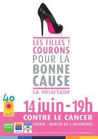 La Sénartaise 2013 affiche complet ! / Seine-et-Marne. Le vendredi 14 juin 2013 à Sénart.  Course réservée aux femmes, en faveur de la recherche contre le cancer.