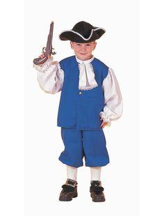 Déguisement pour enfant de l'époque coloniale américaine / Colonial kid costume