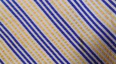 BROOKS BROTHERS GOLDEN WHITE DARK BLUE STRIPE SILK NECKTIE TIE TAU2015A #G22