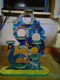 Peacock diya stand