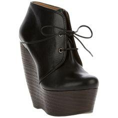 LANVIN Platform Wedge ankle boot ($622) found on Polyvore