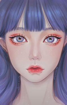 Anime Angel Girl, Dark Anime Girl, Cool Anime Girl, Beautiful Anime Girl, Anime Art Girl, Girl Cartoon, Cartoon Art, Sad Drawings, Girl Artist