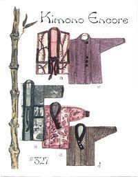 hanten jacket pattern | LE#327 Kimono Encore by Lois Ericson $14.00 XS-XXL (4 - 26)