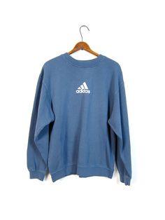 Blue ADIDAS Sweatshirt Washed Out di dirtybirdiesvintage su Etsy