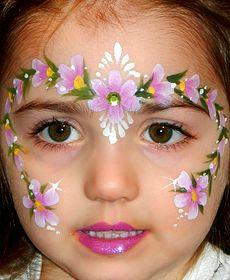 flowers princess face painting