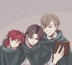 Levi and his thug crew | Shingeki no Kyojin || http://www.pixiv.net/member.php?id=86692 [please do not remove this caption with the source]