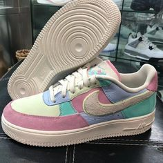 "6f1e44d3727f Highsnobiety Sneakers  HSKicks on Instagram  ""Nike is hitting the right  spots with this year s Air Force 1 Easter rendition. The pastel-colored  sneaker ..."