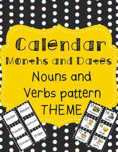 integrate literacy into your calendar math time with this calendar set.  The pattern is noun, verb, noun, verb, noun, verb, etc.