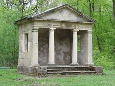 This is very much what I mean when I refer to a temple folly in the book. Clearly it's not a real building--just a shell of one. Bramham Park Temple of the Lead Lads