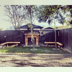 Creative outdoor play space for dogs, the dog parking area at The Vines Village, Marlborough, New Zealand #vinesvillage